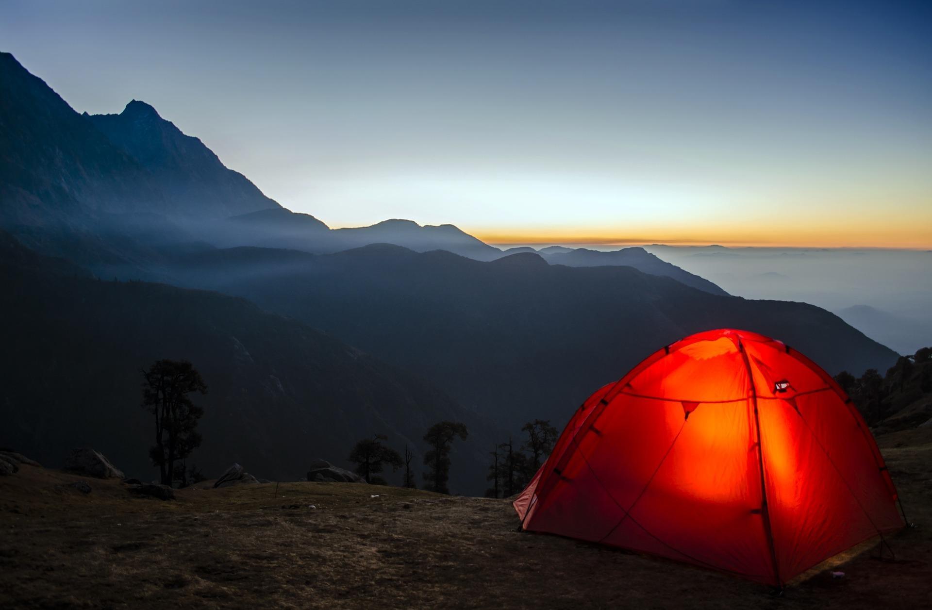 Zelten mit Schlafunterlage
